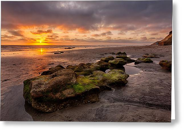 California Beaches Greeting Cards - North Beach Rock Greeting Card by Peter Tellone