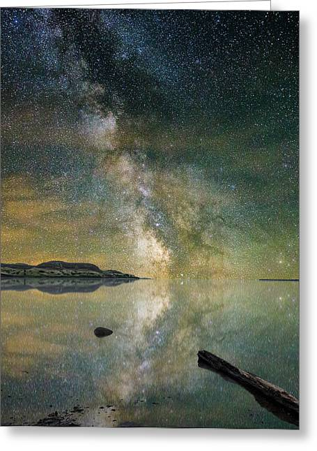 Rift Greeting Cards - North Bend Milky Way Greeting Card by Aaron J Groen