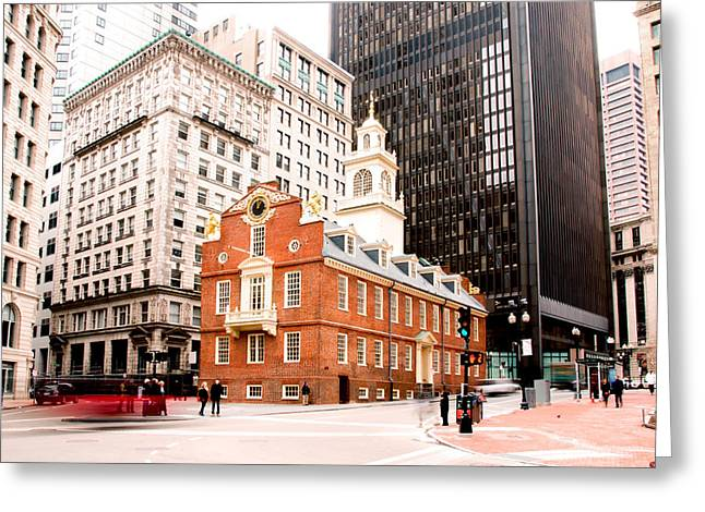 Old North Church Greeting Cards - North By Greeting Card by Greg Fortier