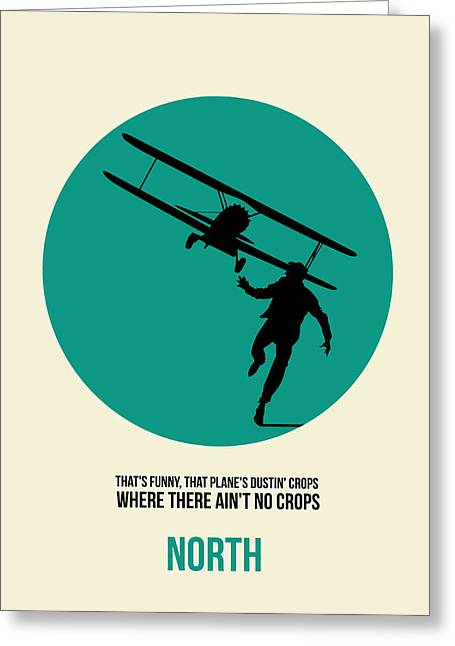 Famous Actor Paintings Greeting Cards - North by Northwest Poster 1 Greeting Card by Naxart Studio