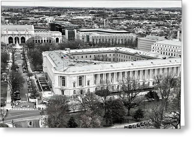 Federal Marshalls Greeting Cards - North Capitol Hill Greeting Card by Mitch Cat