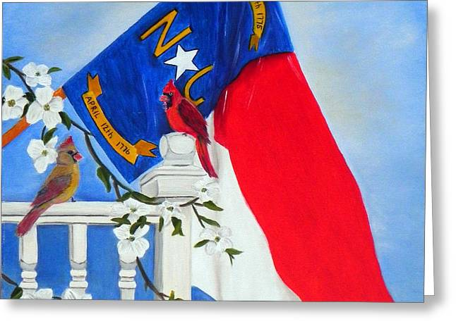 North Carolina - A State Of Art Greeting Card by Shelia Kempf