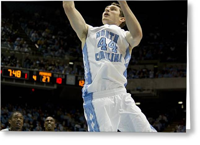 North Carolina Basketball Greeting Card by Mountain Dreams