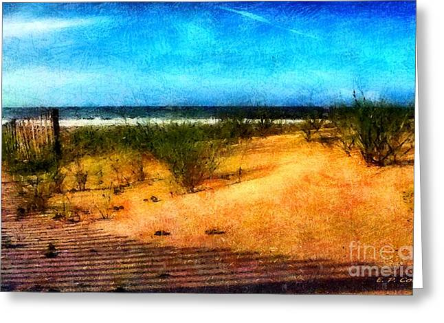 Soft Light Pastels Greeting Cards - North Carolina Coast Greeting Card by Elizabeth Coats