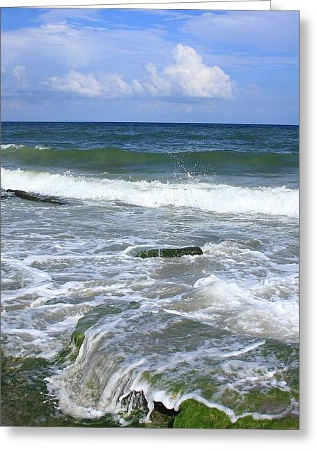 Ocean Landscape Greeting Cards - North Carolina Coast Greeting Card by Michael Weeks