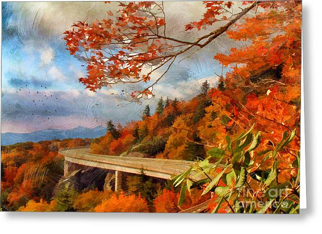 Scenic Drive Greeting Cards - North Carolina  Greeting Card by Darren Fisher