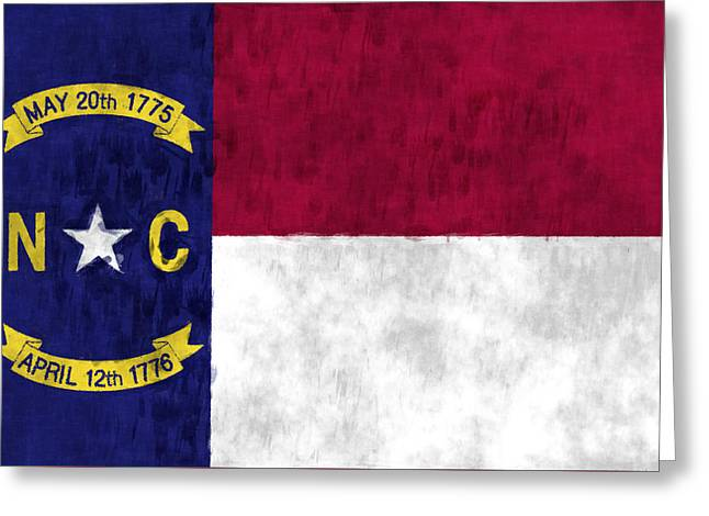 North Carolina Flag Greeting Card by World Art Prints And Designs