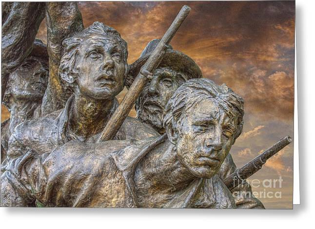 Statue Of Confederate Soldier Greeting Cards - North Carolina Memorial at Gettysburg Greeting Card by Randy Steele