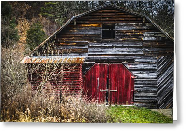 Barn North Carolina Greeting Cards - North Carolina Red Door Barn Greeting Card by Carolyn Marshall