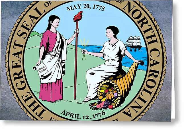 Resolve Greeting Cards - North Carolina State Seal Greeting Card by Movie Poster Prints
