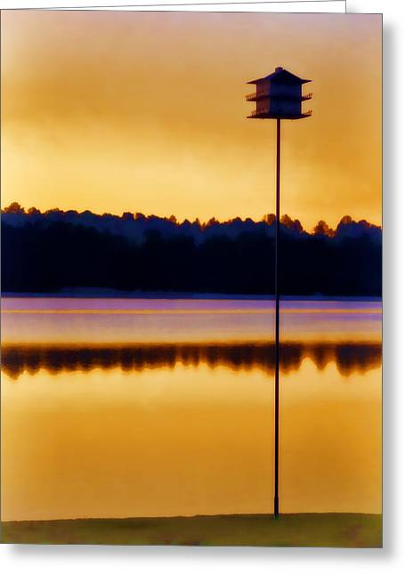 Birdhouses Greeting Cards - North Carolina Sunrise Greeting Card by Carol Leigh