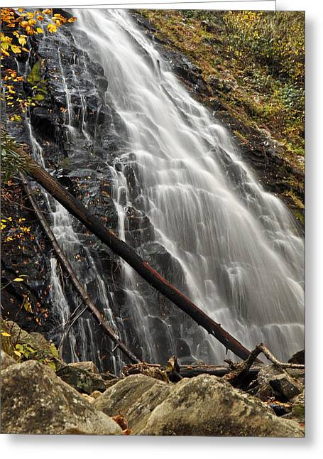 Fall Photographs Greeting Cards - North Carolinas Crabtree Falls Autumn Colors Greeting Card by Bruce Gourley