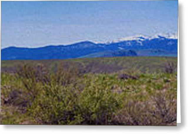 North Cascades Game Range Panorama Greeting Card by Omaste Witkowski