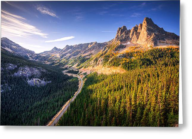 Liberty Bell Greeting Cards - North Cascades Liberty Bell Greeting Card by Dan Mihai
