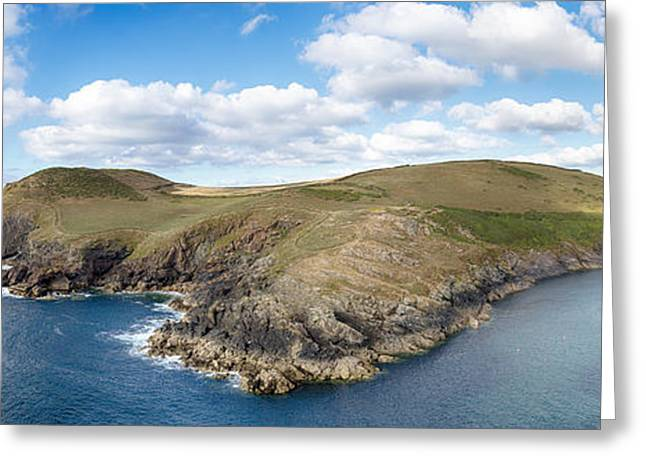 Rugged Cliffs Greeting Cards - North Cornwall Coast Greeting Card by Helen Hotson