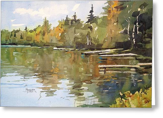 North Shore Paintings Greeting Cards - North Country Reflections Greeting Card by Spencer Meagher