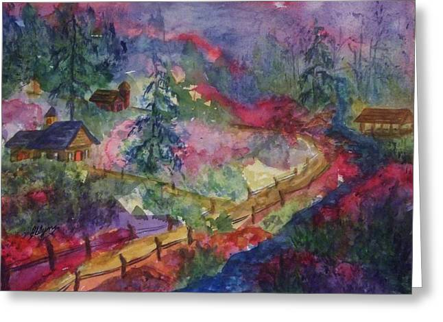 North Country Summer Greeting Card by Ellen Levinson