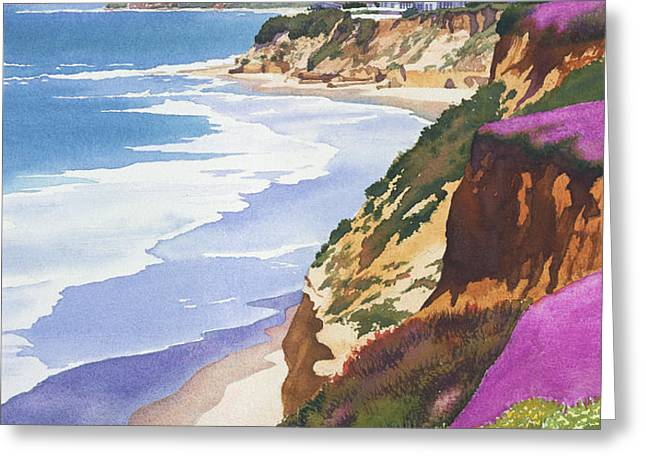 North County Coastline Greeting Card by Mary Helmreich