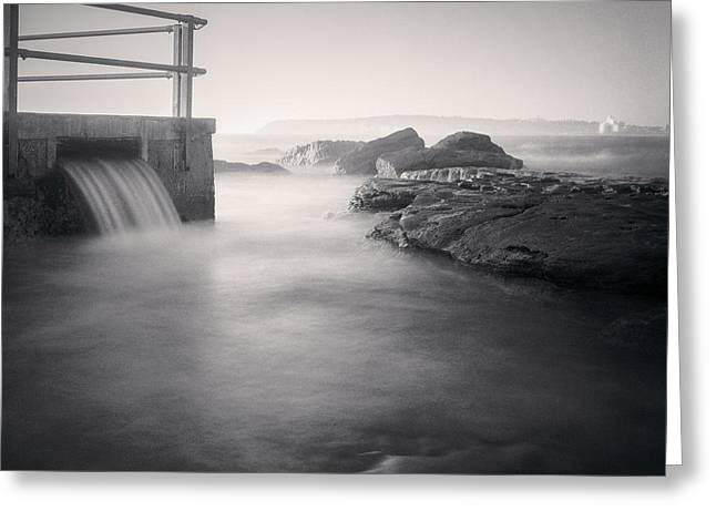 Australia Photographs Greeting Cards - North Curl Curl Rockpool Sydney Greeting Card by Colin and Linda McKie
