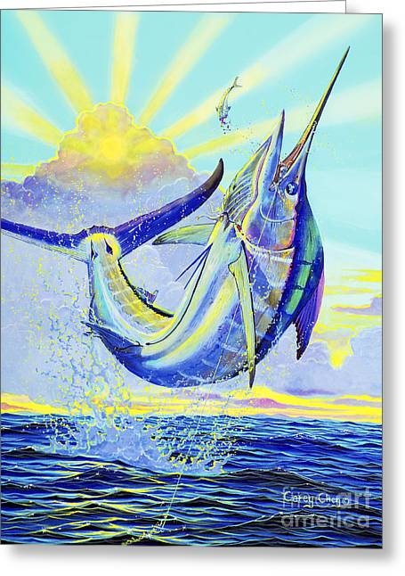 Negroes Paintings Greeting Cards - North Drop Off00132 Greeting Card by Carey Chen