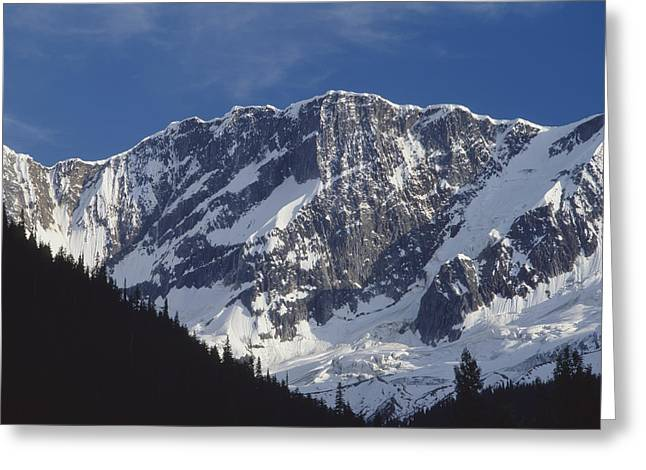 Snow Cornice Greeting Cards - North Face of Mt. Bonney 1M2616 Greeting Card by Ed  Cooper Photography