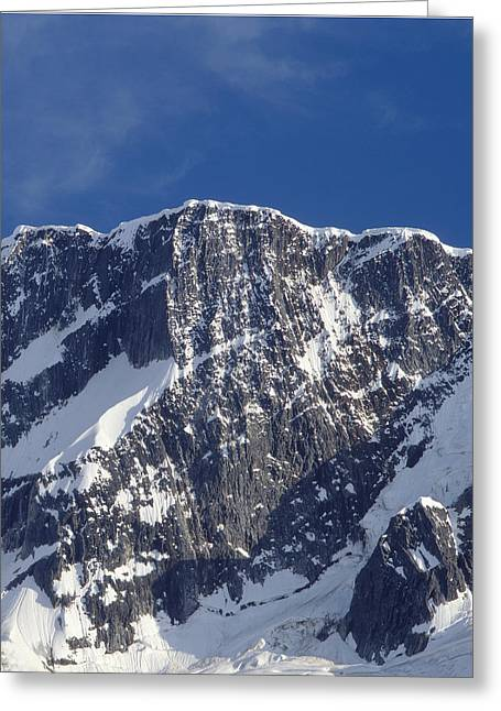 Snow Cornice Greeting Cards - North Face of Mt. Bonney V 1M2616-E Greeting Card by Ed  Cooper Photography