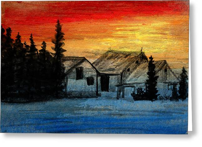 North Farm Greeting Card by R Kyllo