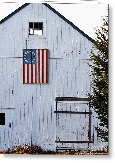The North Digital Art Greeting Cards - North Fork Americana Greeting Card by AdSpice Studios