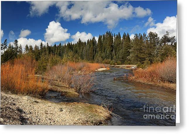 Deer Creek Greeting Cards - North Fork Deer Creek Greeting Card by James Eddy