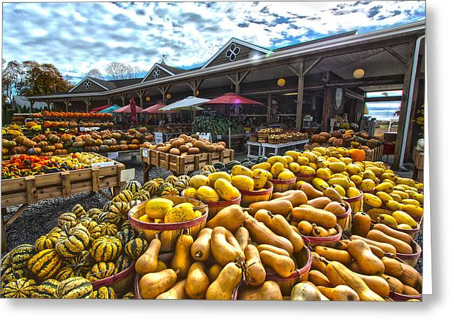 Farmstand Greeting Cards - North Fork Farmstand Greeting Card by Robert Seifert