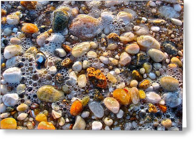 North Fork Greeting Cards - North Fork Pebbles Greeting Card by Jessica Hagerman