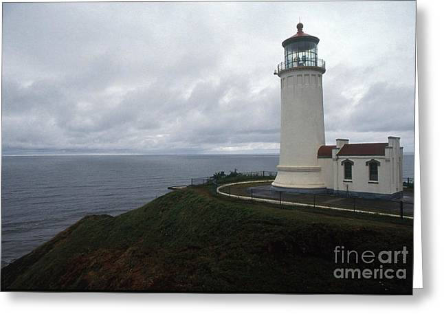 Grey Clouds Greeting Cards - North Head Lighthouse Greeting Card by Bruce Roberts