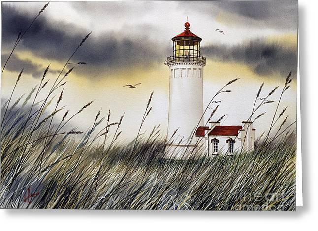 Landscape Framed Prints Greeting Cards - North Head Lighthouse Greeting Card by James Williamson