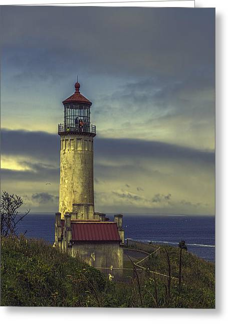 Summer Storm Greeting Cards - North Head Lighthouse Greeting Card by Jean OKeeffe Macro Abundance Art