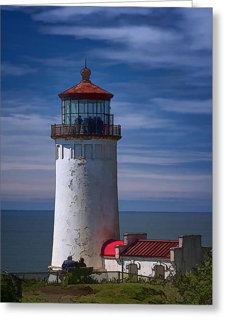 North Sea Greeting Cards - North Head Lighthouse Greeting Card by Joan Carroll