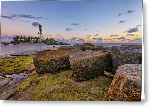Claudia Domenig Greeting Cards - North Jetty Rocks Greeting Card by Claudia Domenig