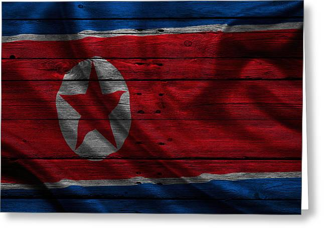 Continent Greeting Cards - North Korea Greeting Card by Joe Hamilton
