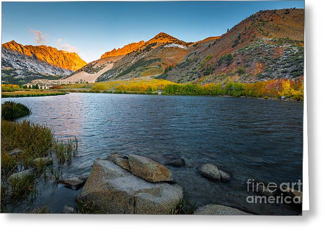 Reflection In Water Greeting Cards - North Lake Greeting Card by Peter Dang
