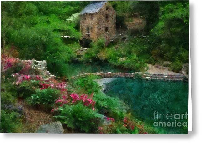 Arkansas Paintings Greeting Cards - North Little Rock Ark Greeting Card by Scott B Bennett