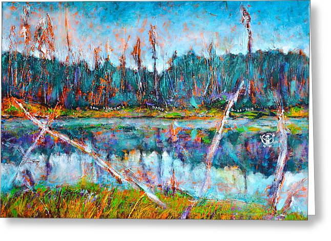 Ion Vincent Danu Greeting Cards - North of Quebec Taiga Landscape Greeting Card by Ion vincent DAnu