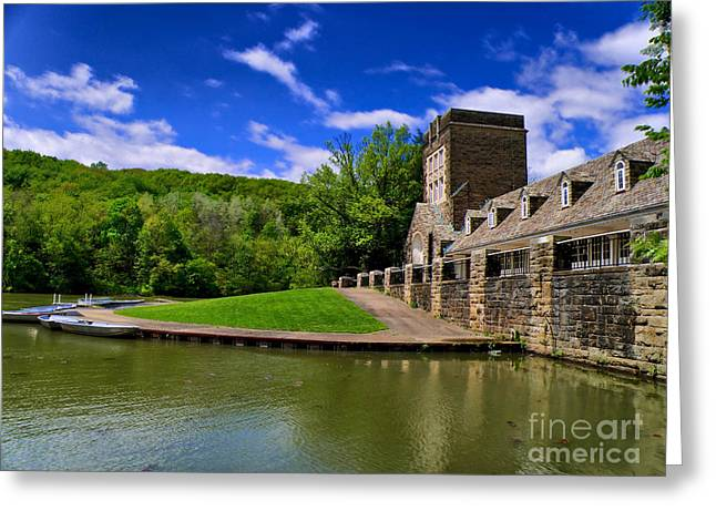 North Park Boathouse in HDR Greeting Card by Amy Cicconi