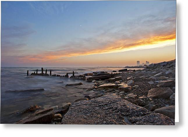 North Point Greeting Cards - North Point Sunset Greeting Card by CJ Schmit