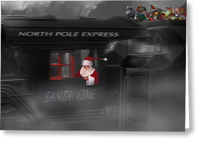 North Pole Express Greeting Card by Mike McGlothlen