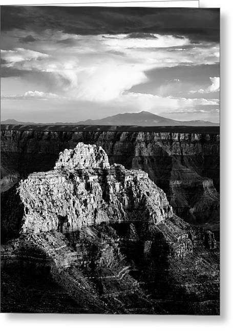 Grand River Greeting Cards - North Rim Greeting Card by Dave Bowman