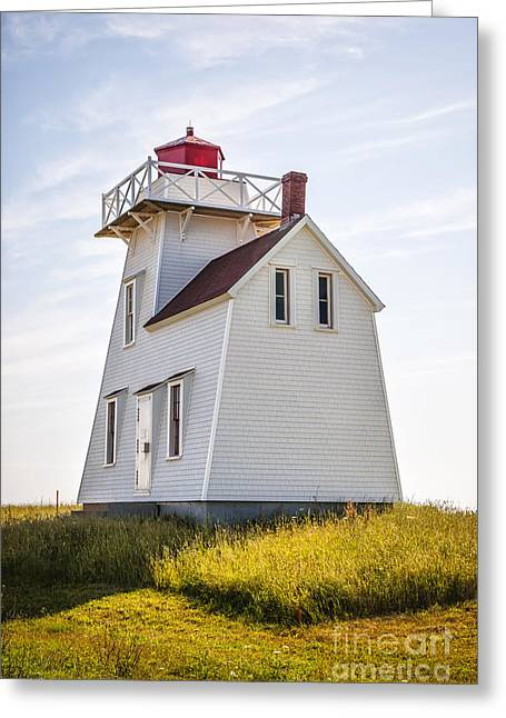 Coastal Lighthouses Greeting Cards - North Rustico Lighthouse Greeting Card by Elena Elisseeva