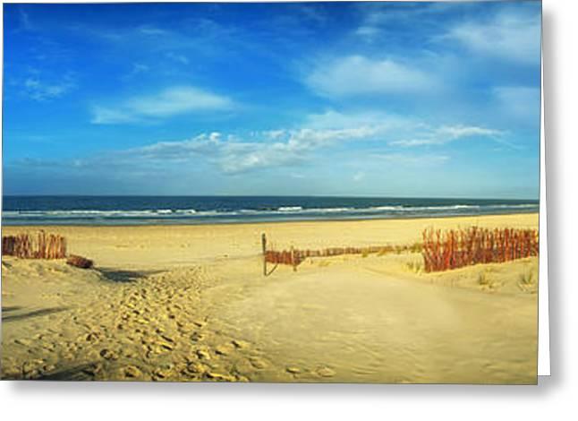 Ocean Vista Greeting Cards - North Sea Panorama Greeting Card by Mountain Dreams