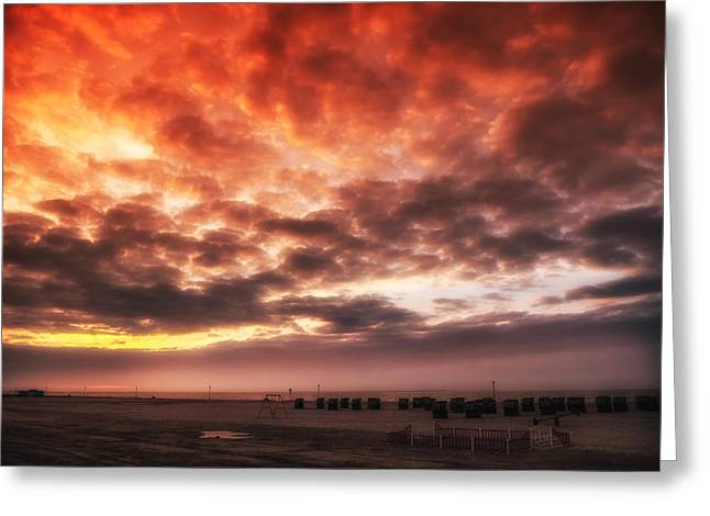 North Sea Sunset Greeting Card by Mountain Dreams