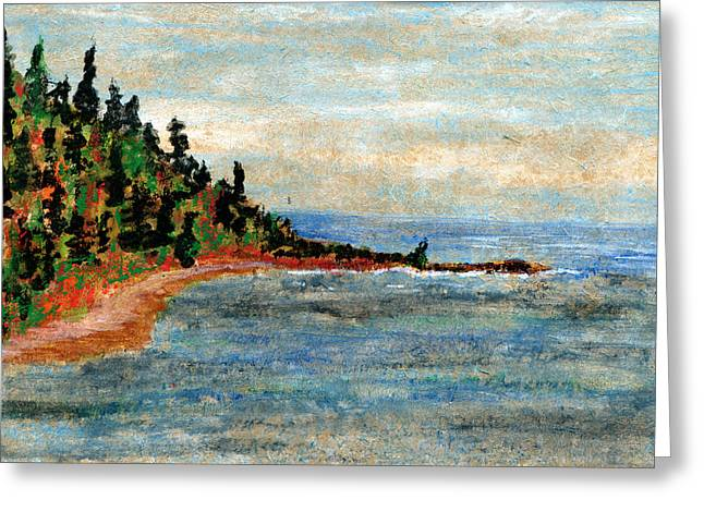 Agate Beach Greeting Cards - North Shore Beach Greeting Card by R Kyllo