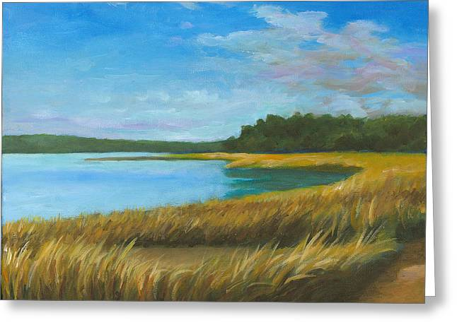 North Shore Paintings Greeting Cards - North Shore Greeting Card by Joe Maracic
