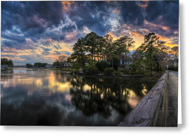 Norfolk Greeting Cards - North Shore Sunset Greeting Card by Williams-Cairns Photography LLC